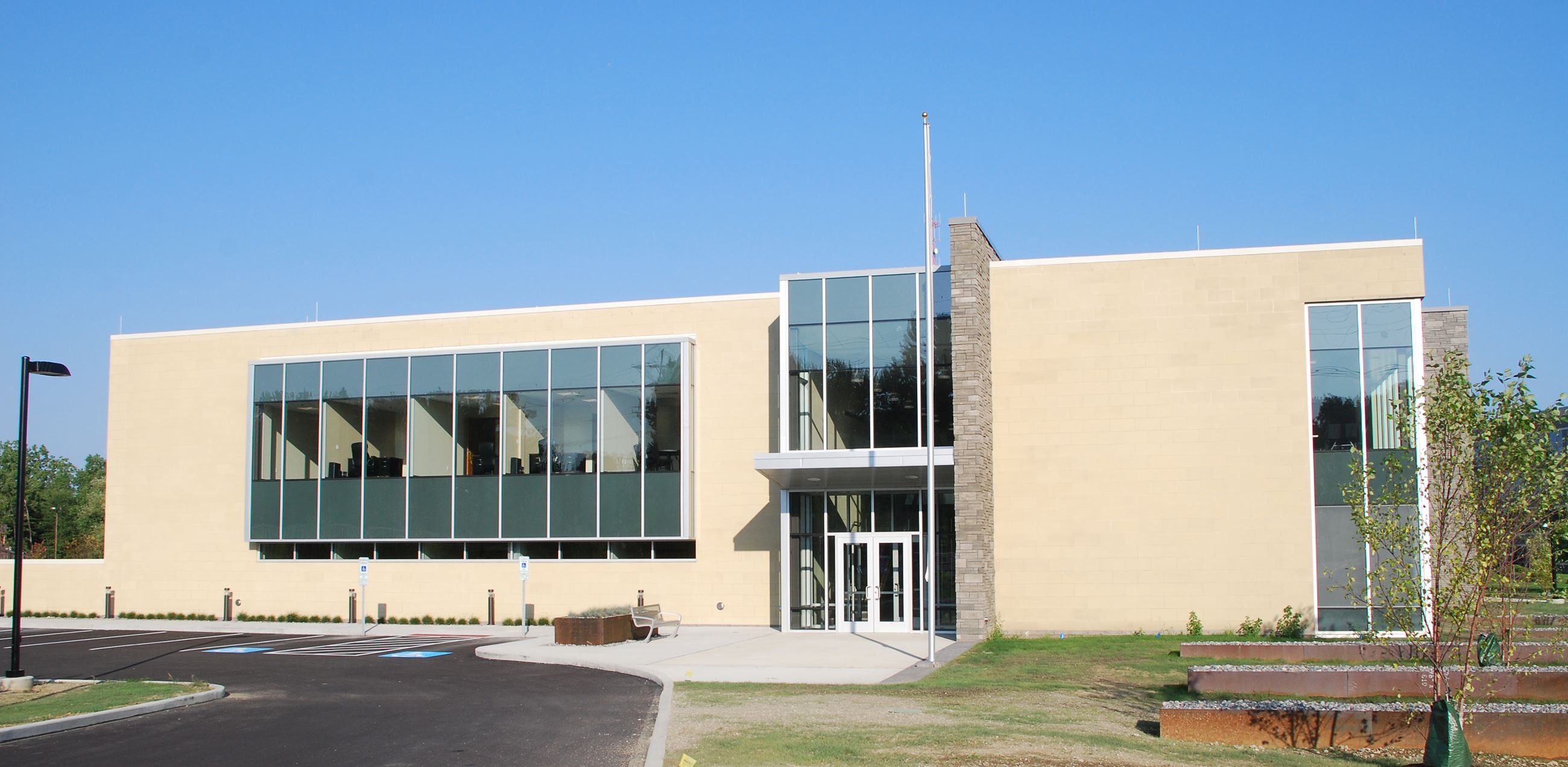 Front entrance of Public Safety Center
