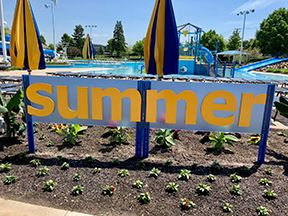 "Sign that says ""summer"" at the Beachwood Family Aquatic Center"