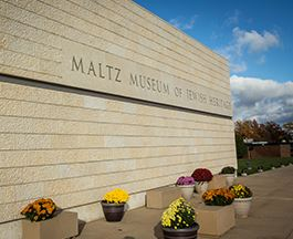 Exterior photo of the Maltz Musuem of Jewish Heritage